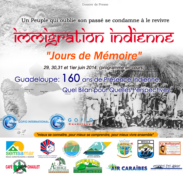 GOPIO participation in GUADELOUPE at the end of May and Beginning of June 2014.